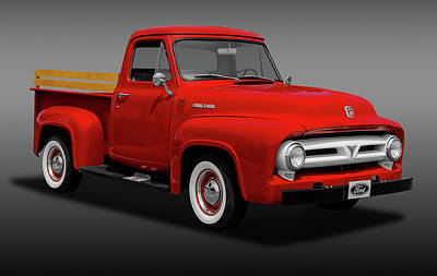 Photograph - 1953 Ford F-100 Pickup Truck   -   1953fordf100fa170472 by Frank J Benz