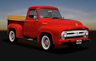 Photograph - 1953 Ford F-100 Pickup Truck  -  1953fordf100pickup170472 by Frank J Benz