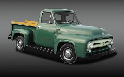 Photograph - 1953 Ford F-100 Pickup Truck  -  1953fordf100pickupfa170237 by Frank J Benz