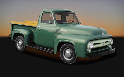 Photograph - 1953 Ford F-100 Pickup Truck  -  1953fordf100truck170237 by Frank J Benz