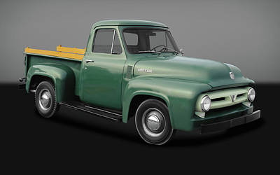 Photograph - 1953 Ford F-100 Pickup Truck  -  53fordf100gry170237 by Frank J Benz