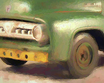Digital Art - 1953 Ford Service Truck Close Up Dop by David King