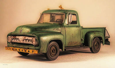 Photograph - 1953 Ford Service Truck Front by David King