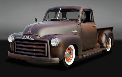 Photograph - 1953 Gmc Patina Special Pickup Truck  -  1953gmcpatinaspcltrkgry170658 by Frank J Benz