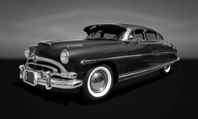 Photograph - 1953 Hudson Hornet 4-door Sedan  -  53hudbornbw33 by Frank J Benz