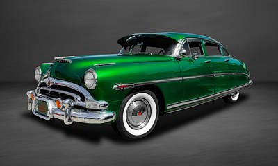 Photograph - 1953 Hudson Hornet 4-door Sedan  -  53hudgr44 by Frank J Benz