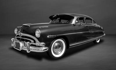 Photograph - 1953 Hudson Hornet 4-door Sedan  -  53hudgrbw55 by Frank J Benz