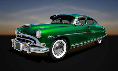 Photograph - 1953 Hudson Hornet 4-door Sedan  -  53hudhorn11 by Frank J Benz