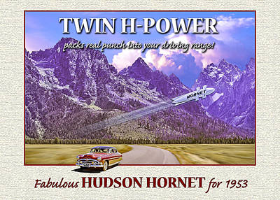 Photograph - 1953 Hudson Hornet Greeting Card by Ed Dooley