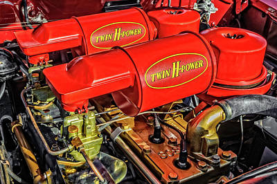 Photograph - 1953 Hudson Hornet H-145 Twin H-power Engine  -  53hudhorntwh089 by Frank J Benz