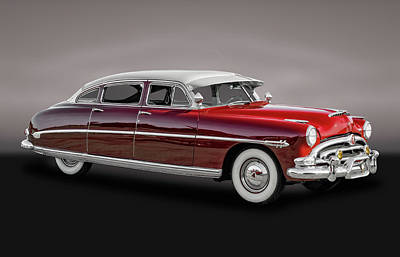 Photograph - 1953 Hudson Hornet Sedan  -  1953hudhornpurp081 by Frank J Benz