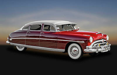 Photograph - 1953 Hudson Hornet Sedan  -  53hudhorntw081 by Frank J Benz