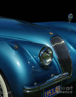 Classic Car Photograph - 1953 Jaguar 120m  by Peter Piatt