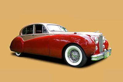 Photograph - 1953 Jaguar M K V I I  by Allen Beatty