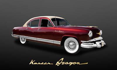 Photograph - 1953 Kaiser Dragon 4 Door Sedan  -  53kaisdlogo400 by Frank J Benz