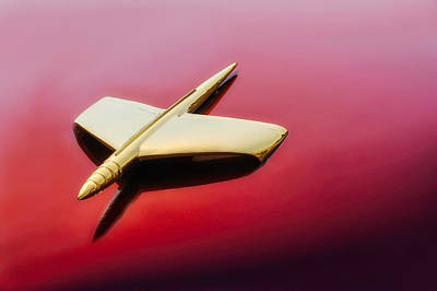 Photograph - 1953 Kaiser Dragon Hood Ornament -  53kaidrhdorn35 by Frank J Benz