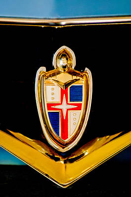 Hoodies Photograph - 1953 Lincoln Capri Emblem by Jill Reger