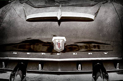 Photograph - 1953 Mercury Monterey Convertible Hood Ornament - Emblem -0092ac by Jill Reger