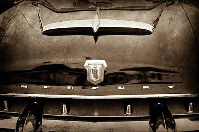 Photograph - 1953 Mercury Monterey Convertible Hood Ornament - Emblem -0092s by Jill Reger