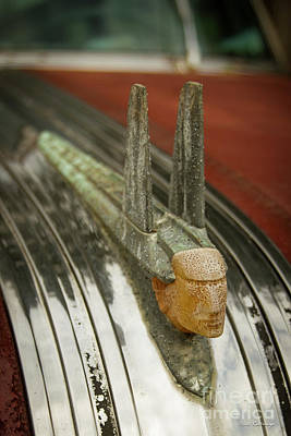 Photograph - The Chief 1953 Pontiac Chieftain Deluxe Hood Ornament Art by Reid Callaway