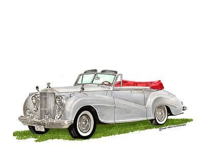 Painting - Rolls Royce Silver Dawn 1953 by Jack Pumphrey
