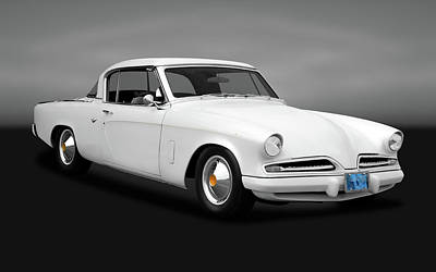 Photograph - 1953 Studebaker Commander Coupe  -  53studebakercomgry170259 by Frank J Benz