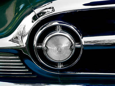 Photograph - 1953chevy 210 Grille Light by Kathy K McClellan