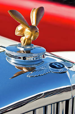 Photograph - 1954 Bentley One Of A Kind Hood Ornament by Jill Reger