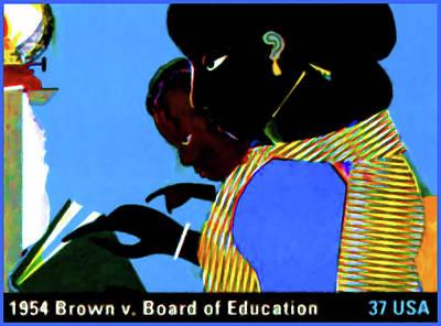 1954 Brown Vs Board Of Education Art Print