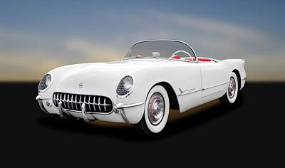 Photograph - 1954 C1 Chevrolet Corvette  -  1954c1chevroletcorvette166577 by Frank J Benz