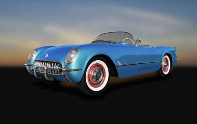 Photograph - 1954 C1 Chevrolet Corvette Convertible  -  1954c1chevroletcorvette140620 by Frank J Benz