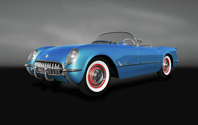 Photograph - 1954 C1 Chevrolet Corvette Convertible  -  1954c1chevycorvettegray140620 by Frank J Benz