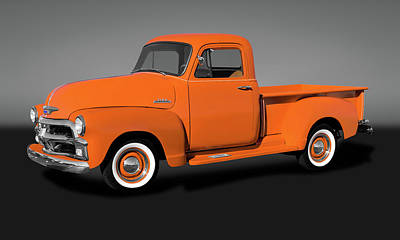 Photograph - 1954 Chevrolet 3100 Series Pickup Truck  -  1954chevy3100truckgry173490 by Frank J Benz
