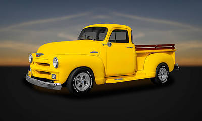 1954 Chevrolet 3100 Series Pickup Truck  -  54chtk11 Art Print