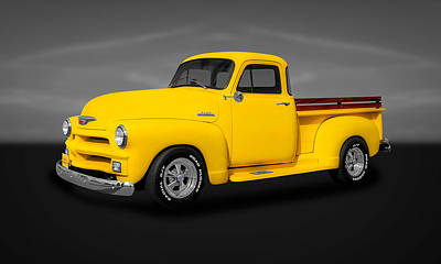 1954 Chevrolet 3100 Series Pickup Truck  -  54chtk22 Art Print by Frank J Benz