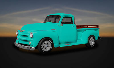 1954 Chevrolet 3100 Series Pickup Truck   -  54chtk345 Art Print