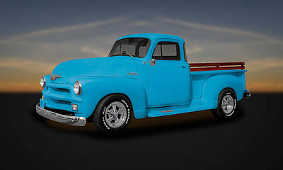1954 Chevrolet 3100 Series Pickup Truck  -  54chtk55 Art Print