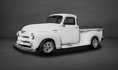 Photograph - 1954 Chevrolet 3100 Series Pickup Truck  -  54chtmbw77 by Frank J Benz