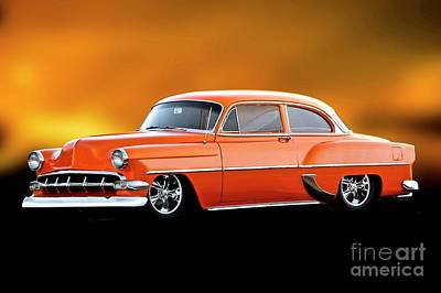 Man Cave - 1954 Chevrolet Bel Air Post Coupe by Dave Koontz