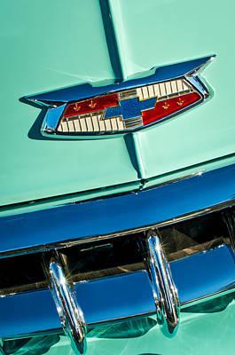 Photograph - 1954 Chevrolet Belair Emblem by Jill Reger