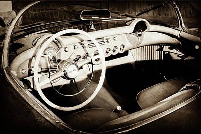 1954 Chevrolet Corvette Steering Wheel -442s Art Print by Jill Reger