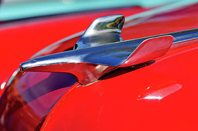 Hoodie Photograph - 1954 Chevrolet Hood Ornament 3 by Jill Reger