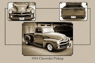 Photograph - 1954 Chevrolet Pickup Classic Car Photograph 6733.01 by M K Miller