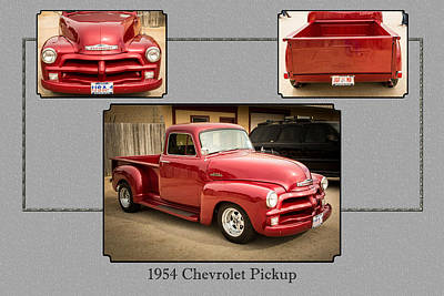 Photograph - 1954 Chevrolet Pickup Classic Car Photograph 6733.02 by M K Miller