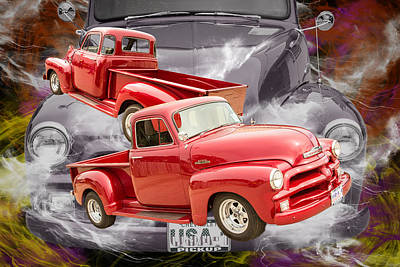 Photograph - 1954 Chevrolet Pickup Classic Car Photograph 6735.02 by M K Miller