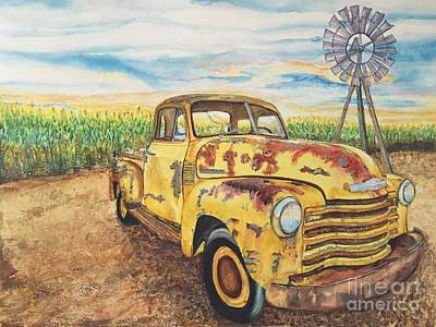 Painting - 1954 Chevrolet Pickup Truck.   by DJ Laughlin