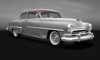 Photograph - 1954 Chrysler Windsor Deluxe Sedan  -  1954chryslerwindsorgry183847 by Frank J Benz