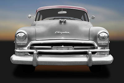 Photograph - 1954 Chrysler Windsor Front Detail  -  1954chryslerwindsorfrontend183849 by Frank J Benz