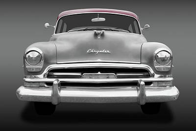 Photograph - 1954 Chrysler Windsor Front Detail  -  54chryslerwindsorfrtdetailfa183849 by Frank J Benz