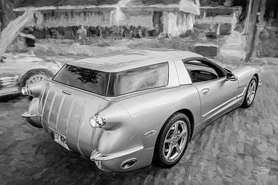 Photograph - 1954 Corvette Nomad Bw C150 by Rich Franco